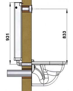 """""""TUBCHASS"""" COMMANDE DIRECTE CLOISON DE 65 A 140 mm"""