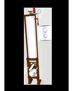 TUBCHASSDUO double commande pneumatique 3/6 Litres + bâti-support autoportant étroit / 2560.000