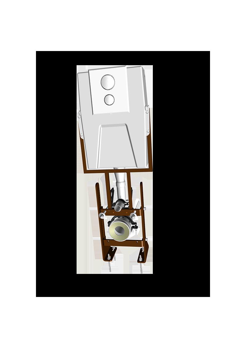 ClaraCompact autoportant : réservoir encastré + bâti-support autoportant / 2900.000