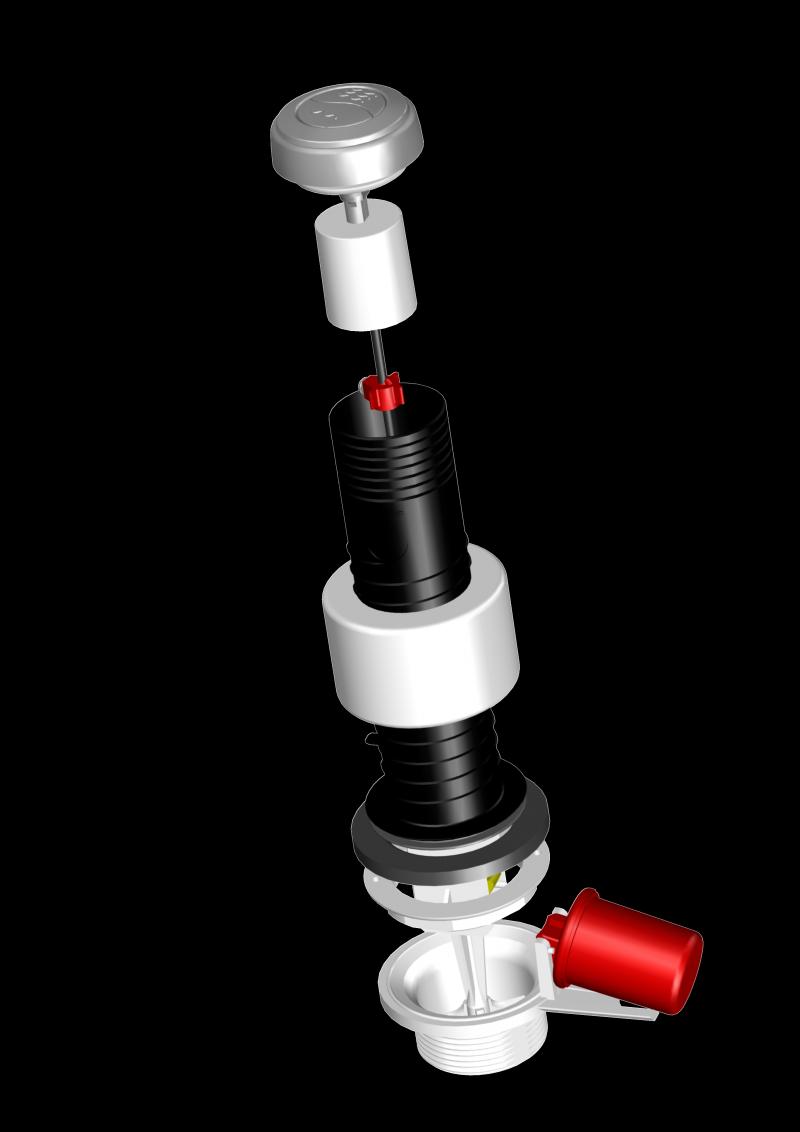 Mécanisme DOUBLE COMMANDE 3/6 LITRES / 6200.000
