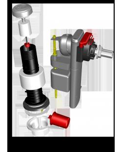 """ENSEMBLE """"CLARAPLUS"""" : Mécanisme 3/6 Litres + Robinet flotteur Claraclip / 6800.000"""
