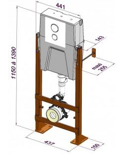 ClaraCompact en applique : réservoir encastré + bâti-support avec fixation murale / 2950.000