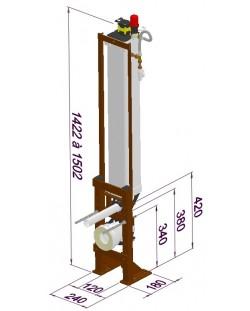 TUBCHASSDUO simple commande pneumatique 6 litres + bâti-support autoportant étroit / 2561.000